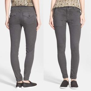 Joie Jeans So Real Skinny Gray military pants